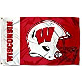 College Flags & Banners Co. Wisconsin Badgers Football Helmet Flag