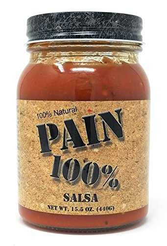 Pain 100% - Salsa - 15.5 Ounces- - 250,000-1,000,000 Scovilles - Made in Kansas, USA. Made with Haba - http://coolthings.us