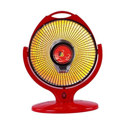GJX elektrische verwarming voor het huishouden, kleine zonnekachel, van kunststof, kleine zonne-oven, verwarming van halogeenbuizen (kleur: rood)