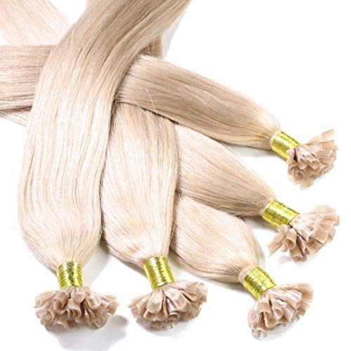Hair2Heart 25 x 0,5g extensions cheveux keratine à chaud - 30cm, #20 blond cendré, lisse