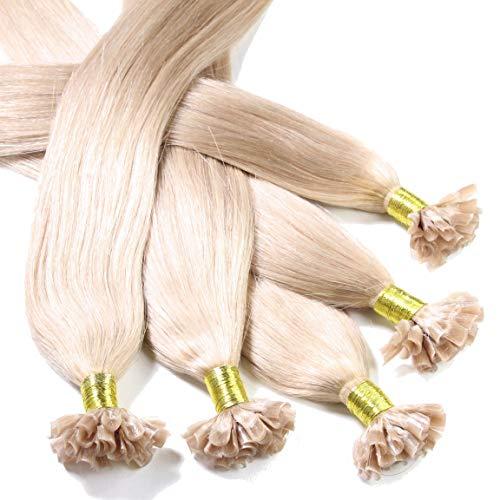 hair2heart 50 x 0.5g Echthaar Bonding Extensions, glatt - 30cm - #20 aschblond