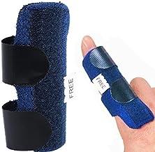 AKIMA(アキマ) 指 サポーター ばね指 突き指 腱鞘炎 スポーツ 保護 リハビリ 金属プレート 固定 柔軟 通気性 快適 全指適応 左右兼用 フリーサイズ 調節可能