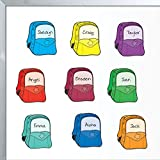 """Really Good Stuff Student Name Backpack Magnets, 2"""" by 3"""" (Set of 32) – Versatile Magnets for Classroom Management – Write-On/Wipe-Off Surface for Repeated Use – Assign Tasks, Take Attendance & More"""