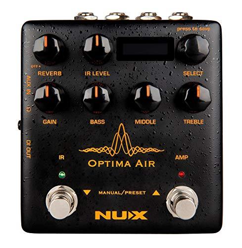 Nux NAI-5 Optima Air, Akoestische gitaar simulator (met 2 schakelaars en 1 voorversterker, 3-bands EQ, gain control, IR…