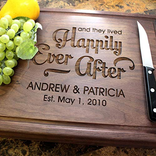 Personalized Engraved Custom Chopping Block - Designs for Wedding, Closing, Housewarming or Anniversary Gift. (014)
