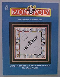 Monopoly Gameboard to Scale Book Charted for Counted Cross Stitch