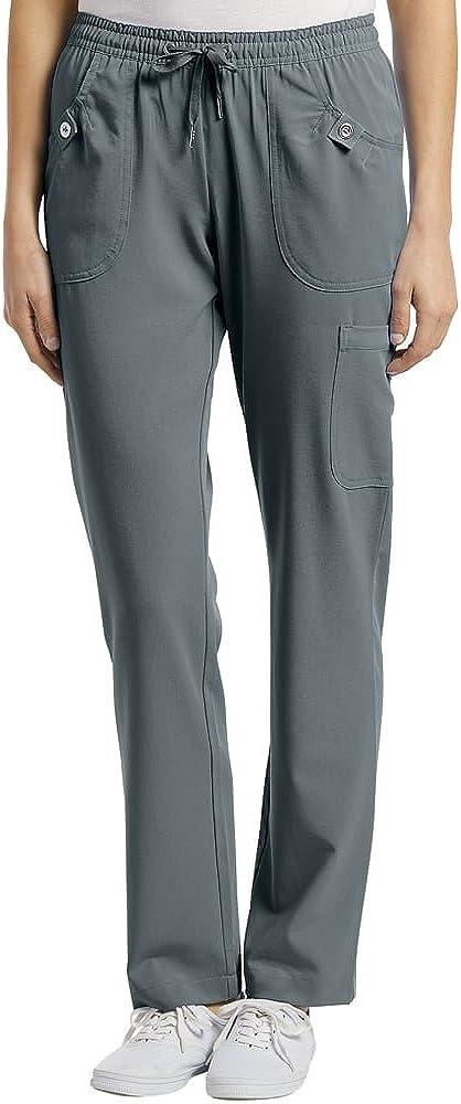 White Cross Elastic Waist Drawstring Cargo Denver Mall Pant Steel Scrub 5 ☆ very popular Grey
