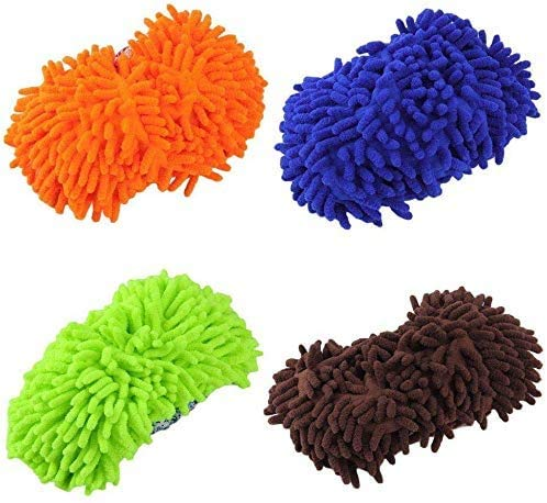 Home Mop Sweep Floor Cleaning Duster Cloth Housework Soft Slipper SY (4 Pairs)
