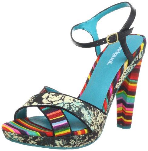Desigual Sandals Pam 2 31SS244, Sandali col Tacco Donna, Multicolore (Mehrfarbig (Navy 5072)), 37