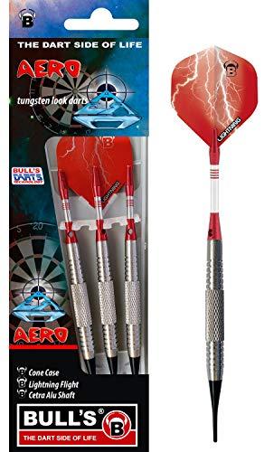 BULL'S Aero Soft Dart 18g, Schwarz