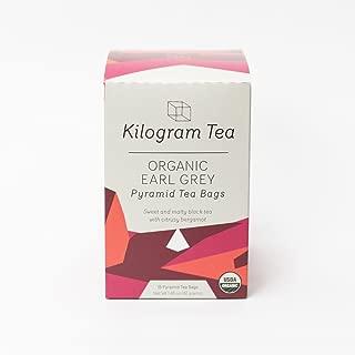 Kilogram Tea - Organic Earl Grey Pyramid Tea Bags - Sustainably Produced - 15 count box