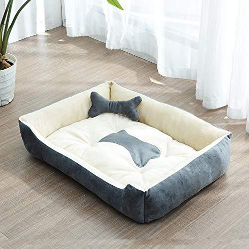 Hundekissen Hundematratze für kleine mittlere große Hunde, orthopädisches Hundebett kuschelig Schlafplatz -hellgrau_B-60 * 45CM