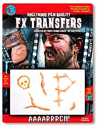 Horror-Shop Cicatrices de Pirate de Tatouage 3D