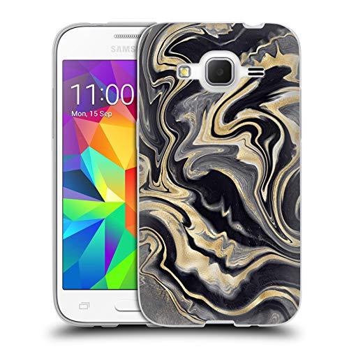 Head Case Designs Ufficiale Monika Strigel Oro 3 Marmo Prezioso Cover in Morbido Gel Compatibile con Samsung Galaxy Core Prime