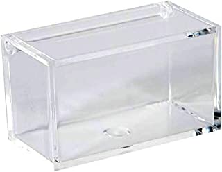 Clear Lucite Plastic Storage Box with Hinged Lid-Acrylic Boxes For Wedding, Party Favor, Treats, Candy Mini Gifts, Sewing Set, Cosmetic Organizer 3.35''x1.77''x1.97'' (6 Pack)