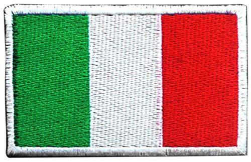 DCCN Adesivo in Tactical Patch Airsoft Stemma Militare, Patch con Inserto in Tactical Patch per Zaini - Bandiera italiana