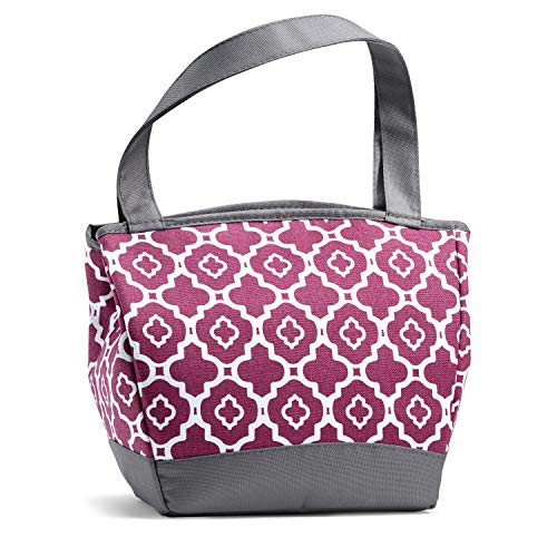 Fit and Fresh Fit & Fresh Hyannis Insulated Lunch Bag with Reusable Ice Pack (Marron, 11.5' x 6' x 10.5', Maroon Ikat Geo