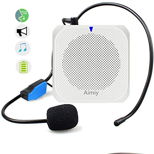 AIMIY Voice Amplifier for Teachers 10W Ultralight 2200mAh Supports TF/USB Portable Microphone and Speaker Loudspeaker Personal Microphone Speech Amplifier for Elderly,Coaches, Training, Presentatio