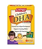 CATALO - Children's DHA Formula, Brain Eye Development to Support Learning with 470mg of Omega 3 Fatty Acid, DHA, and EPA containing Fish Oil, 60 Orange Flavor Chewable Softgels