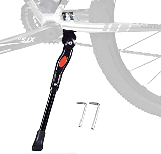 "BESTCAN Bicycle Kickstand,Adjustable Aluminum Alloy Bike Kickstand for 22""24""26""28""Mountain Bike"