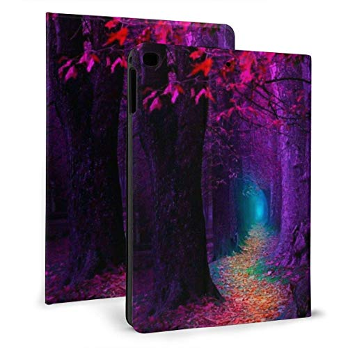 ZSMJ Ipad case Red Maple Leaves Slim Lightweight Smart Shell Stand Cover Case forair 1/2 (9.7inch)