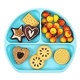 Firtink Silikon-Kinderteller, Rutschfeste Silikonplatte für Kleinkinder und Kinder BPA-frei Tischset Für die meisten Hochstühle für Babys und Kleinkinder