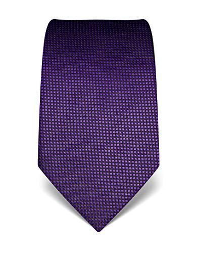 Vincenzo Boretti Corbata de hombre en seda pura, de cuadros púrpura