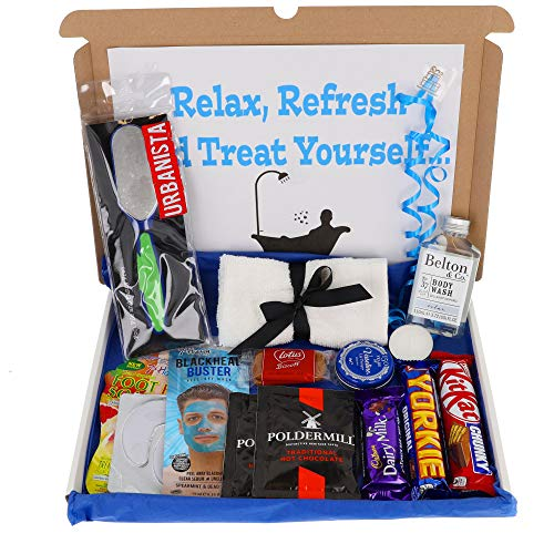 Large Men's Pamper Treat Box Letterbox Gift Box Hug in a Box Personalised...