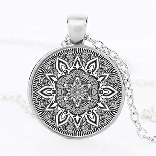 ZHIFUBA Co.,Ltd Necklace Fashion Mandala Flower Necklaces Charm Henna Yoga Pendant Necklace Handmade Jewelry India Style Om Symbol Zen Buddhism for Women
