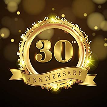 Yeele 4x4ft 30Th Birthday Photography Backdrop Celebrating Anniversary 30 Years Old Party Banner Decoration Background Portrait Photo Booth Shooting Studio Props Wallpaper