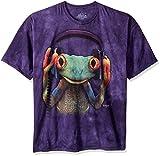 Photo de The Mountain T-Shirt DJ Peace Frog Bleu Taille M