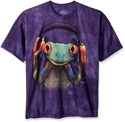 The Mountain T-Shirt DJ Peace Frog Bleu Taille M