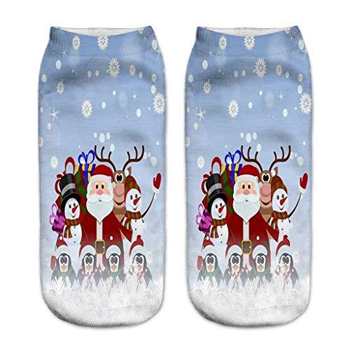 Felicove Unisex Weihnachtssocken Socks Weihnachtsmotiv Weihnachten Festlicher Baumwolle Socken Mix Design für Damen und Herren