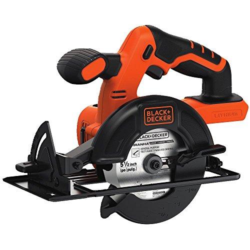 BLACK+DECKER 20V MAX 5-1/2-Inch Cordless Circular Saw, Tool Only (BDCCS20B)