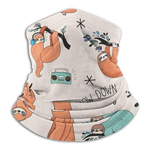 Bandana Gesichtsbedeckung für Frauen und Männer, Orange Faultiere hängen von Bäumen Multifunktions-Sturmhaube Kopfbedeckung Atmungsaktive Halsmanschette für staubdichten winddichten Sonnenschutz-Schal