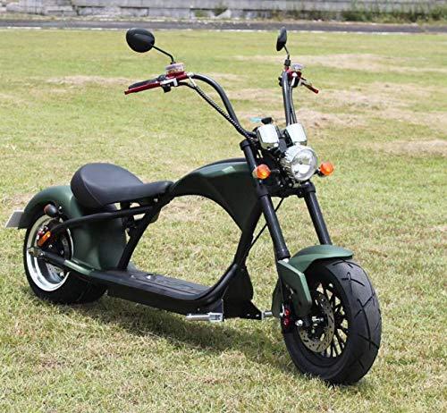 Motor, bicicleta eléctrica de Chopper de Viron. Una bestia en ruedas. Rotulador eléctrico Chopper en varios colores. Alcance de 60 km. Con hasta 45 km/h. Patinete eléctrico con permiso de circulación.