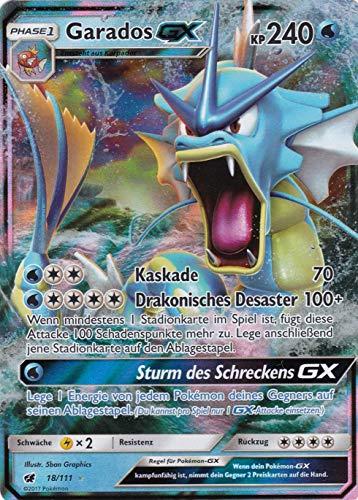 18/111 - Garados GX - Rare Holo GX - Pokemon - Deutsch - Aufziehen der Sturmröte