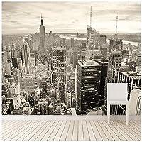 Wkxzz 壁画 壁紙 壁の装飾画カスタム壁画レトロな建築壁画寝室リビングルームテレビの背景ニューヨーク市の壁紙3D-120X100Cm