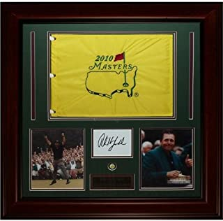 Phil Mickelson Autographed 3-Time Masters Champion Deluxe Framed Flag Piece