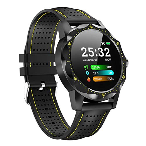 JIAYU Pulsera Inteligente, Carga por USB, Pantalla SmartWatch de 1,3 Pulgadas a Color, Sistema Bluetooth, Deportes Son Totalmente compatibles Es Impermeable Reloj, Unisex (Negro)