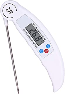 VANVENE Meat Thermometer, Waterproof Kitchen Food Cooking Thermometer, LCD Screen Ultra Fast Reading, Best for Kitchen, Ou...