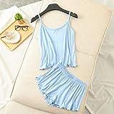 Handaxian Modal Material Damen Schlafanzug Damen Nachtwäsche Damen Schlafanzug 3 XL