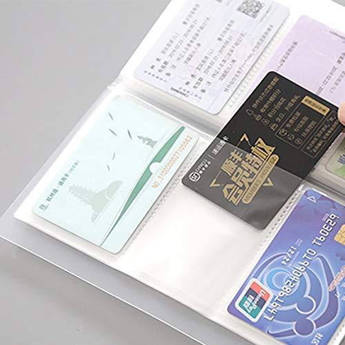 Yesiidor - Soporte para tarjetas de visita impermeable, organizador de tarjetas de visita transparente, soporte para 240 celdas, tarjeteros