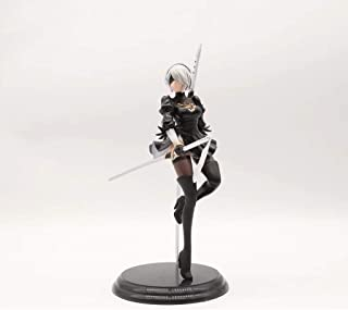 ZDNALS NieR: Automata Toy Statue 2B Sister Game Model PVC Static Character Statue Crafts Collection -25CM Statue