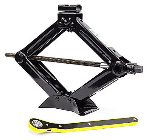 CYDZ® 2T 11-45CM Swing Lever Ratchet Scherenwagenheber mit Schwinghebel Steckschlüssel 360 °Aktivitätskopf Ratschenschlüssel