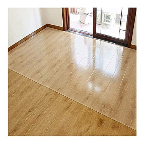 NINGWXQ Estera de Protección Suelo Absorción de Sonido Prueba de Aceite Impermeable Resistente a los arañazos Tapetes de Silla de Piso Duro (Color : Clear-1.5mm, Size : 80x120cm)