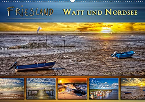 Friesland - Watt und Nordsee (Wandkalender 2021 DIN A2 quer)