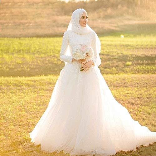 Vestido de Novia Vestido de Novia de Lujo musulmán Apliques Arabia Saudita...