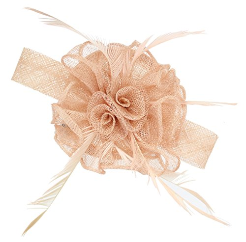 Nude Fascinator on Headband/ Clip-in for Weddings, Races and Occasions-6442