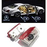 Ltsplay LED投影レーザーロゴライト ドアウェルカムライト カーテシーランプ メルセデスベンツ A B C Coupe E ML GLE GLC GLS GLAクラス 車用ドアランプ 交換タイプ 2個セット for Mercedes Benz AMG w212 W205
